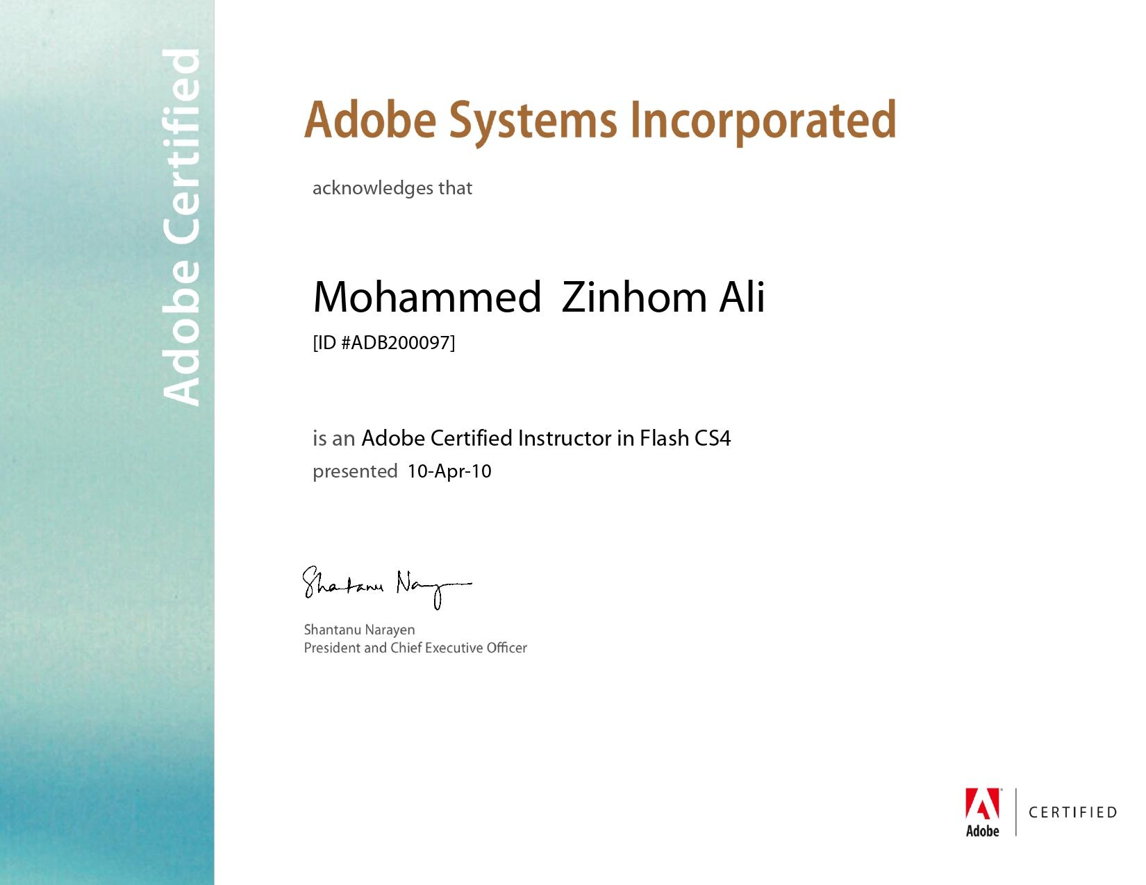 Adobe Certified Instructor Flash CS4